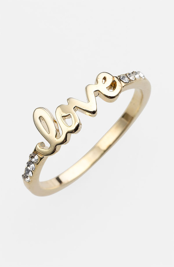 Ariella Collection 'Messages - Love' Script Ring (Nordstrom Exclusive)