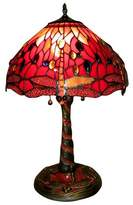 Tiffany & Co. Warehouse of  Style Red Dragonfly Lamp with Mosaic Base