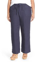 Caslon Plus Size Women's Drawstring Linen Pants