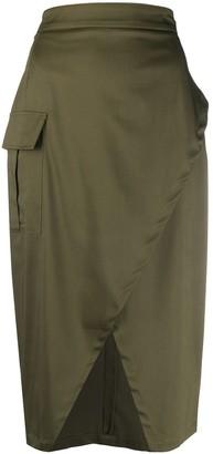 L'Autre Chose Wrap-Style Midi Skirt