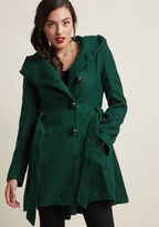 Steve Madden Once Upon a Thyme Coat in Basil in XS - Fit & Flare Coat by from ModCloth