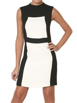 Space Bicolored Crepe Cady Dress