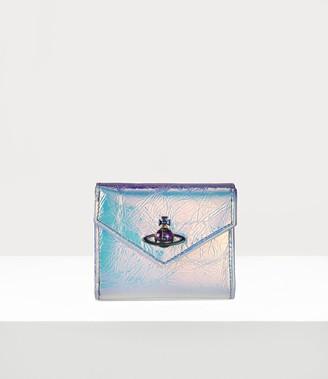Vivienne Westwood Archive Orb Envelope Billfold Plain Blue