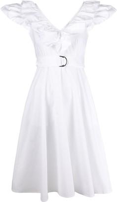 P.A.R.O.S.H. ruffled collar midi dress