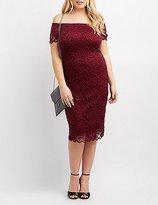 Charlotte Russe Plus Size Off-The-Shoulder Lace Dress