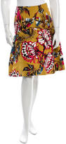 Carolina Herrera Silk Printed Skirt