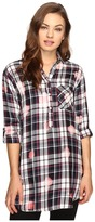 Brigitte Bailey Martina Washed Plaid Button Up Dress