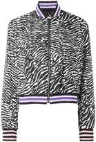 Giamba zebra pattern bomber jacket - women - Cotton/Polyamide/Polyester/Polyimide - 40