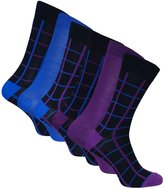 Sock Snob 6 Pairs of Mens Funky Soft Bamboo Socks in many designs