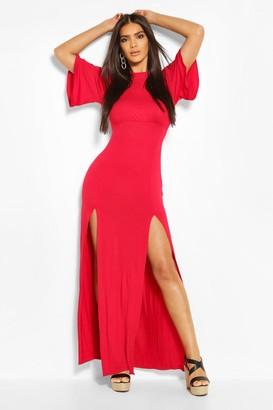 boohoo Jersey Curved Seam Midaxi Dress