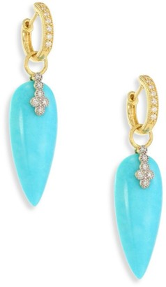 Jude Frances Champagne Diamond & Turquoise Teardrop Earring Charms