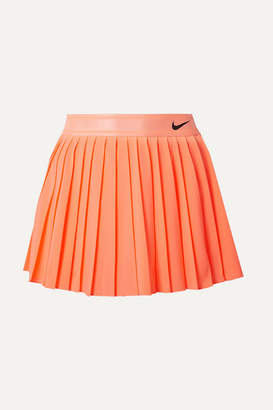 Nike Court Victory Pleated Neon Dri-fit Stretch Skirt - Coral