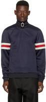 J.w. Anderson Navy Jersey Track Jacket