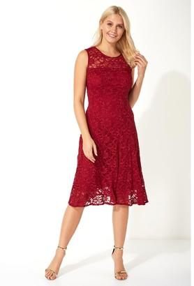 M&Co Roman Originals glitter lace fit and flare dress