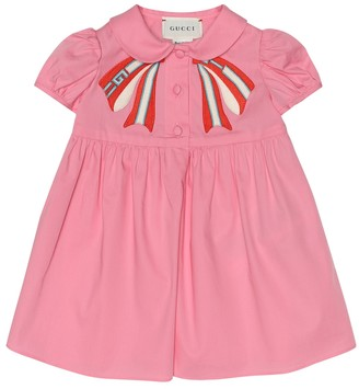 Gucci Kids Baby embroidered cotton dress