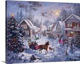 Canvas On Demand Nicky Boehme Premium Thick-Wrap Canvas Wall Art Print entitled Merry Christmas