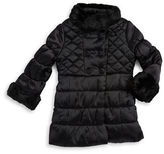 Jessica Simpson Girls 2-6x Faux Fur Trimmed Quilted Coat