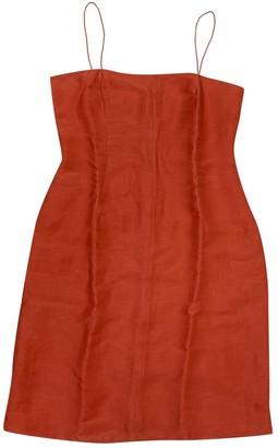 Loewe Red Linen Dresses
