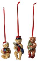 Villeroy & Boch Nostalgic Porcelain Teddy Bear Ornaments (Set of 3)