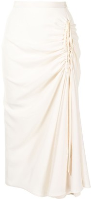 No.21 High-Waisted Ruched Skirt