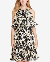 Polo Ralph Lauren Printed Cold-Shoulder Dress