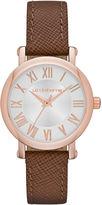 Liz Claiborne Womens Brown Leather Strap Watch