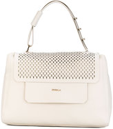 Furla perforated flap tote - women - Calf Leather - One Size