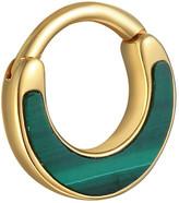Pamela Love Malachite Inlay Clicker Single Hoop Earring - Yellow Gold