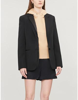 Helmut Lang Femme eyelet-embellished cotton-jersey hoody