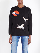 Sandro Faust embroidered knitted jumper