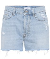 7 For All Mankind High-waisted denim shorts