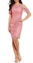 Antonio Melani Kalinda Cold-Shoulder Chemical Lace Dress