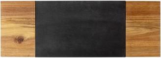 Cathy's Concepts Monogram Slate & Acacia Wood Charcuterie Board & Cheese Knife