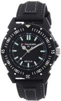 Sector Men's Watch R3251197025 In Collection Expander 90 with 3 H and S, Black Dial and Black Strap