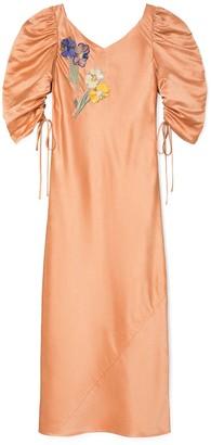 Tory Burch Embellished Puffed-Sleeve Dress