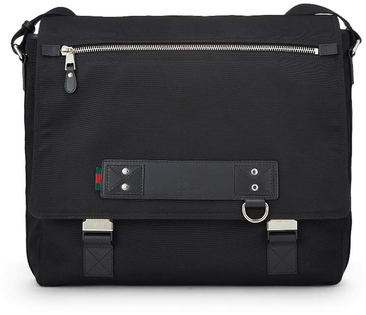 434935a03cb1 Gucci Canvas Leather Messenger Bag - ShopStyle
