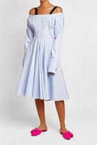 Natasha Zinko Pinstriped Cotton Shirt Dress
