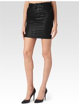 Paige Chantelle Skirt - Black Silk Coating