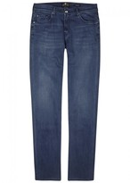 7 For All Mankind Dark Blue Straight-leg Jeans