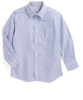 Nordstrom Stripe Poplin Dress Shirt (Toddler Boys, Little Boys & Big Boys)