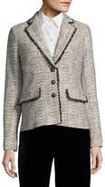 Karl Lagerfeld Paris Hushed Violet Tweed Suit Jacket