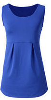 Lands' End Women's Active Pleated Tank Top-Frost Blue Tiny Dot