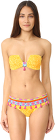 OndadeMar Limoncello Structured Bandeau Bikini Top