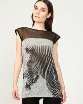Le Château Zebra Print Cut & Sew Tunic