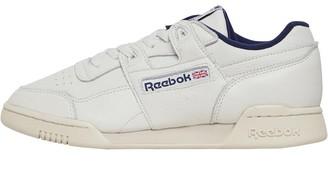 Reebok Classics Mens Workout Plus Chalk/Paper White/Navy
