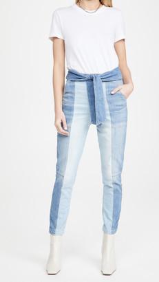 JONATHAN SIMKHAI STANDARD Henley Tie Waist Straight Jeans