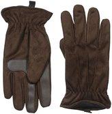 Isotoner Men's Brushed Microfiber Gathered Wrist Gloves
