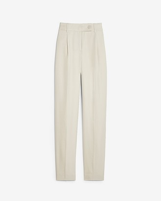 Express High Waisted Side Tab Lined Ankle Pant