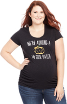 Motherhood Plus Size Pumpkin Patch Graphic Maternity Tee