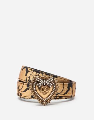 Dolce & Gabbana Jacquard Devotion Belt